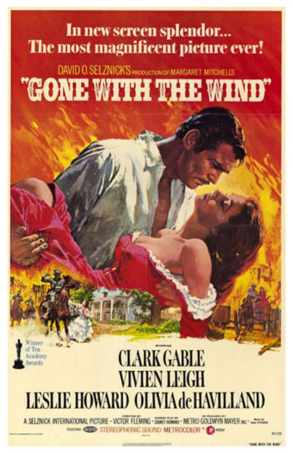 Movie Poster Gone With The Wind 1940