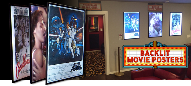 Illuminated Backlit Poster Light Box LED Backlit Movie ...