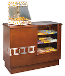 Concession Counter w/ Candy Case - Hardwood