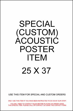 SPECIAL ORDER - Movie Acoustic Panel (37 x 25)